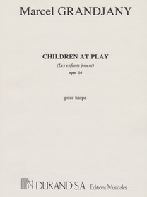 Children at Play This is a charming, energetic and fun piece with beautiful idiomatic harp writing and the early twentieth-century French coloristic harmonies. In this piece Grandjany depicts the joy of children's playing vividly. One can almost hear children joking, laughing, and running around playing hide and seek. The section in high register sounds like a music box, which reminds us of the most endearing childhood memory. The sweet and merry music are however often interrupted by the military drum rolls and trumpet fanfare. One wonders if the composer is depicting children playing soldiers or their playing was interrupted by the real soldiers as the composer had to experience the WWI and WWII during his life time. This leaves some imagination for interpretation. Overall it is a great piece of music and often a required repertoire for international competitions.