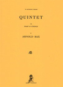 Bax: Quintet for Harp & Strings (score and parts)