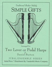 Burton (arr.): Simple Gifts (Two Harps)