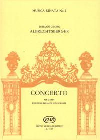 Johann Georg Albrechtsberger; Concerto per l'arpa