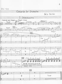 Bartok: Concerto for Orchestra (second harp part)