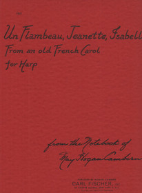 Cambern: Un Flambeau, Jeanette, Isabel from an old French Carol for harp