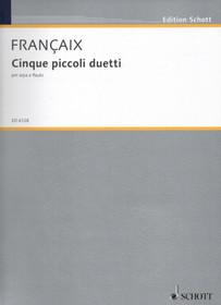 Francaix: Cinque Piccoli Duetti (Five Small Duets) for Harp & Flute