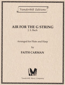 Bach JS/Carman: Air for the G String (fl/hp) (Downloadable)