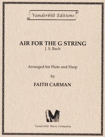 Bach JS/Carman: Air for the G String (fl/hp) (Digital Download)
