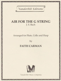 Bach JS/Carman: Air for the G String (fl/vc/hp) (Downloadable)