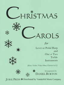 Burton: Christmas Carols for Lever or Pedal Harp and One or Two Treble Instruments  (Digital Download)