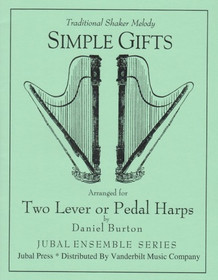 Burton (arr.): Simple Gifts (Two Harps) (Downloadable)