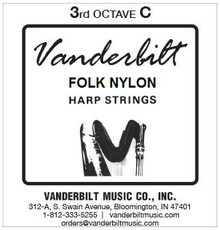 Vanderbilt Folk Nylon, 3rd Octave C (Red)