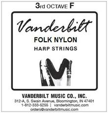 Vanderbilt Folk Nylon, 3rd Octave F (Blue)