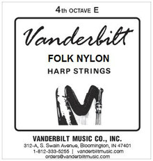 Vanderbilt Folk Nylon, 4th Octave E