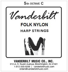 Vanderbilt Folk Nylon, 5th Octave C (Red)