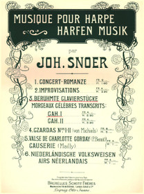 Snoer: Famous Piano Pieces, Vol. I (Beruhmte Clavierstucke)