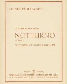 Pillney: Notturno, Op. 14 Nr. 1 Fur Violine, Violoncello und Harfe