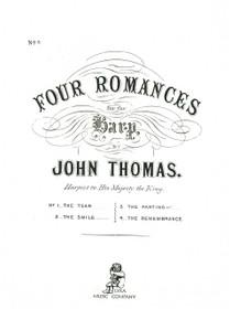 Thomas: Four Romances for Harp Solo - No. 3 The Parting