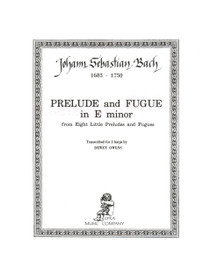 Bach/Owens: Prelude and Fugue in E minor from Eight Little Preludes and Fugues for 2 harps