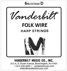 Vanderbilt Folk Wire, 6th Octave D