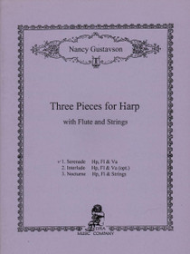 Gustavson: Three Pieces for Harp with Flute and Strings (1. Serenade for Hp, Fl, & Va)