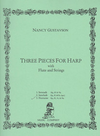Gustavson: Three Pieces for Harp with Flute and Strings (3. Nocturne Hp, Fl, Vc & Vla)