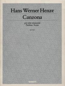 Werner Henze: Canzona per Sette Strumenti (SCORE)