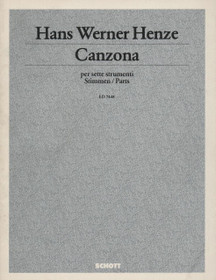 Henze, Canzona (Parts)