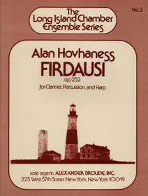 Hovhaness: Firdausi Op. 252 for Clarinet, Percussion, and Harp