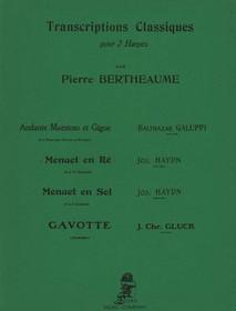 Haydn/Bertheaume: Menuet en Re de la 14th Symphonie Transcriptions Classiques pour 2 harpes