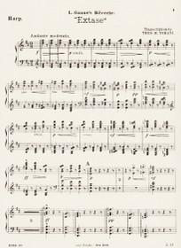 Ganne: Reverie, Extase (Harp Part)