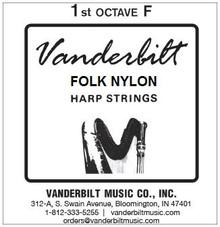 Vanderbilt Folk Nylon, 1st Octave F (Blue)