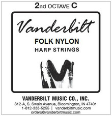 Vanderbilt Folk Nylon, 2nd Octave C (Red)