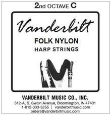Vanderbilt Folk Nylon, 2nd Octave C (Red)