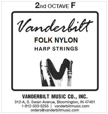 Vanderbilt Folk Nylon, 2nd Octave F (Blue)