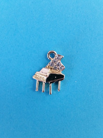 Goldtone Piano Charm