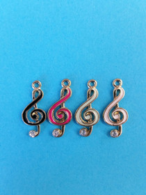 Goldtone Treble Clef Charm Assorted colors