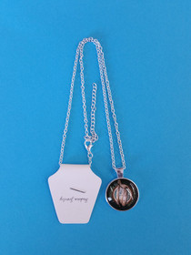 Silvertone Clairsearch Pendant