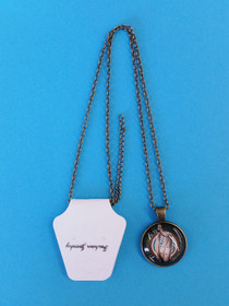 Bronzetone Clairsearch Pendant