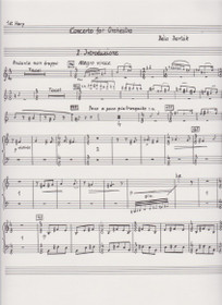 Bartok: Concerto for Orchestra (First Harp Part)