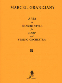 Grandjany: Aria in Classic Style for Harp and String Orchestra (Score Only)