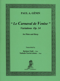 Genin, Paul A.: 'Le Carnaval de Venise' Variations Op. 14 for Flute and Harp