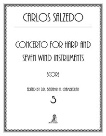 Salzedo, Concerto for Harp and Seven Wind Instruments- Conductor's score and orchestral parts rental only.