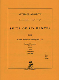Amorosi: Suite of Six Dances for Harp and String Quartet (Harp Part)