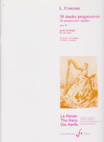 Concone: 30 Progressive Studies for the Harp, vol 2.