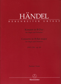 Handel: Concerto in B-flat major for Organ and Orchestra (Score)