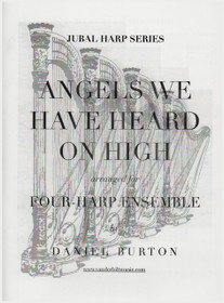Burton: Angels We Have Heard On High for Four Harps (Digital Download)