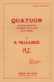 Villa-Lobos, Quatuor for Harp, Celesta, Flute, Saxophone and Women's Voices.  (Parts)