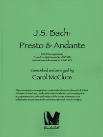 Bach/McClure: Presto & Andante (Digital Download)