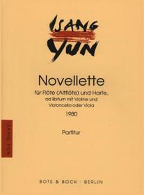 Yun: Novellette for Flute, Harp, Violin and Cello