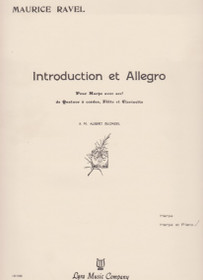 Ravel, Introduction and Allegro (Harp and Piano Reduction) Lyra Edition
