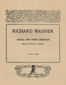 Wagner, Bridal Song from Lohengrin for Harp and Piano or Organ