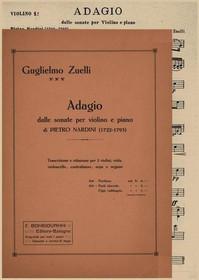 Nardini/Zuelli, Adagio for Harp, Organ and Strings (Score and Parts)